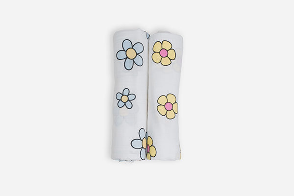 Deanie Organic Baby Flower Power I Duo A (Swaddles)