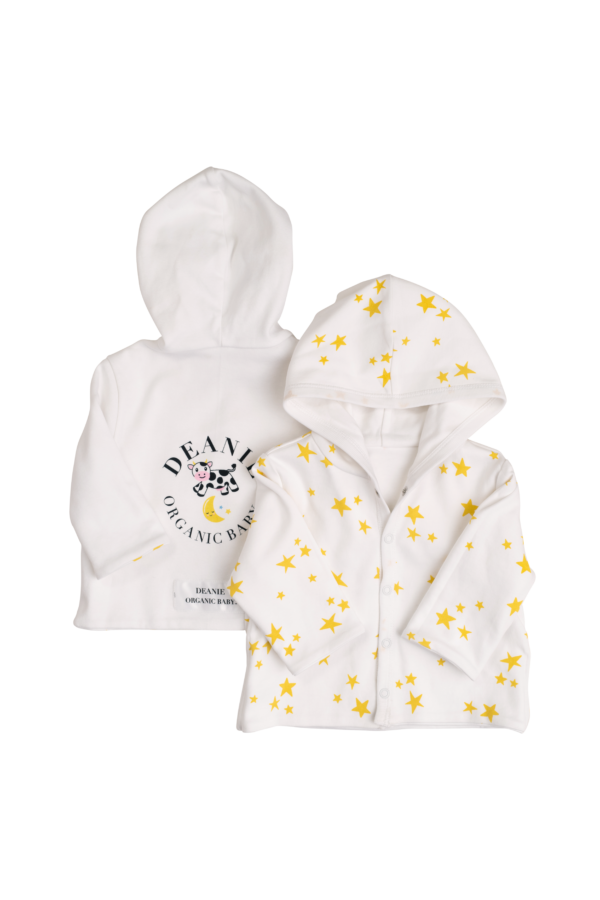 Cow Jumping the Moon Logo & Starlight, Star Bright Reversible Hoodie