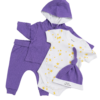Deanie Organic Baby - Royal Purple Outfit (4 Pieces)