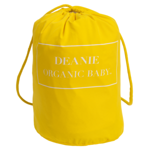 Deanie Organic Baby - Sunshine Yellow Logo Layette Bag