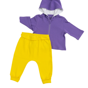 Royal Purple & Yellow Outfit - 2 Pieces