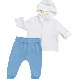 Light Blue & Cow Jumping the Moon Outfit - 2 Pieces