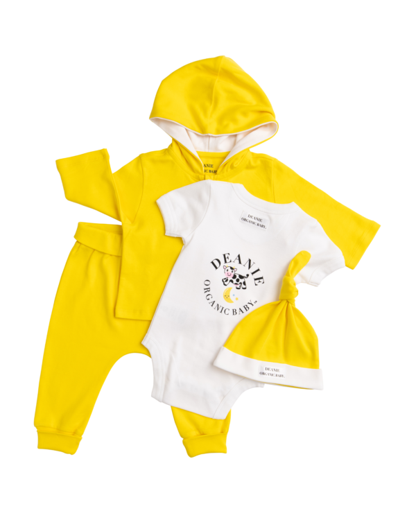 Deanie Organic Baby - Sunshine Yellow Outfit (4 Pieces)