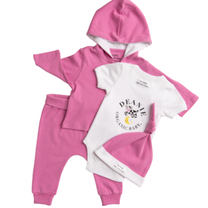 Flower Power Pink Outfit - 4 Pieces