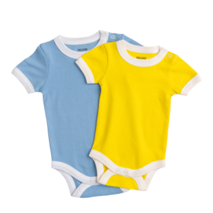 Light Blue & Sunshine Yellow Bodysuit 2 Pack