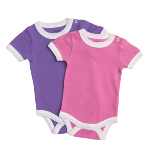 Pink & Royal Purple Bodysuit - 2 Pack
