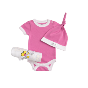 Deanie Organic Baby - Flower Power Pink Coming Home Set