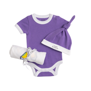 Baby Bottle Pop Art Royal Purple Coming Home Set