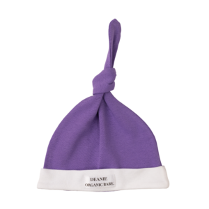 Royal Purple Logo Deanie Organic Baby Hat